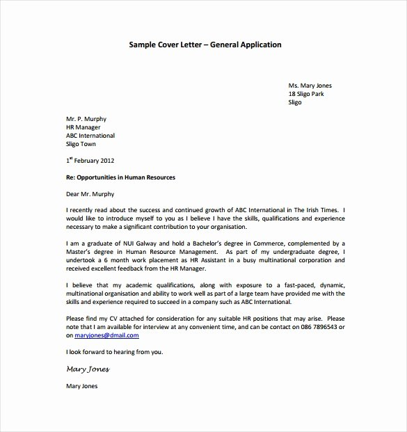 Sample A Cover Letter Pdf Letter Template