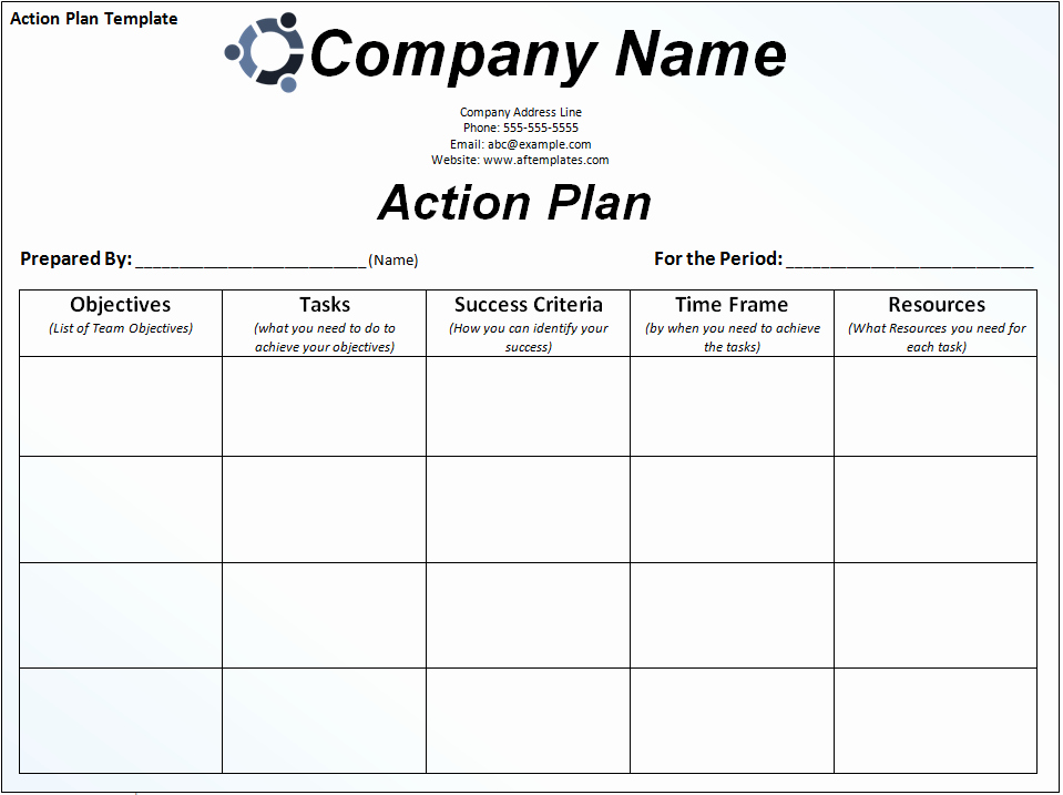 sample action plan