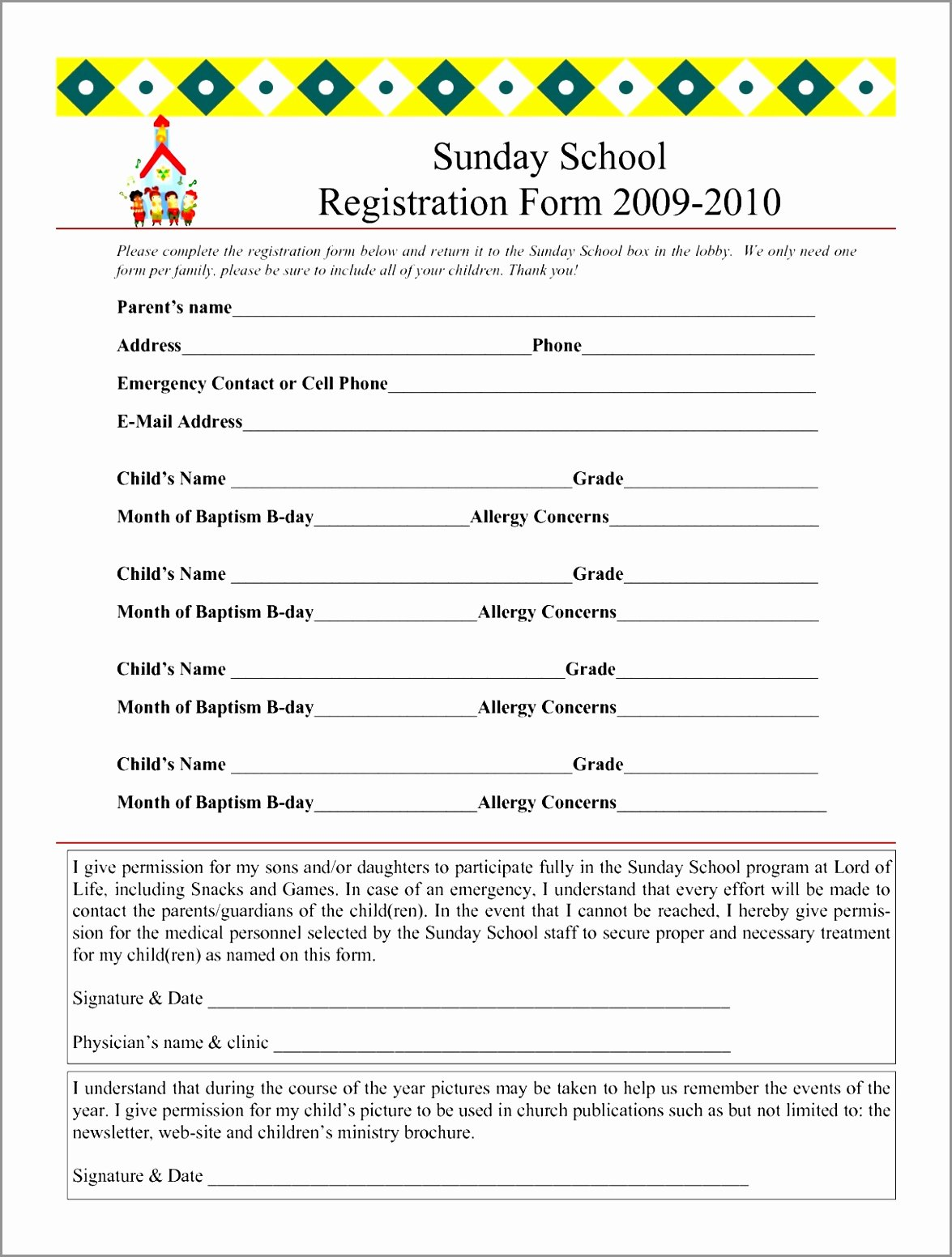 Sample Applications forms Free School Application form