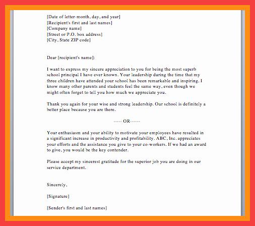 Sample Appreciation Letters