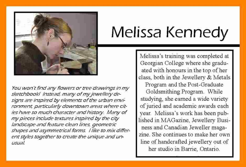 Sample Artist Bio Impression Icon Melissa Kennedy 6