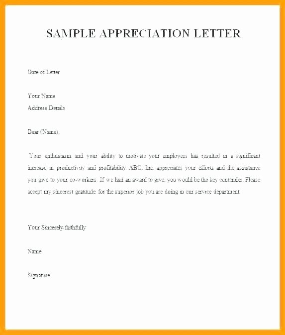 Sample Award Nomination Letter for Employee Wamcrhomes