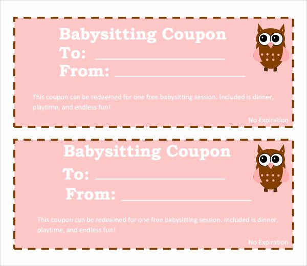 Sample Babysitting Coupon Template 5 Documents Download
