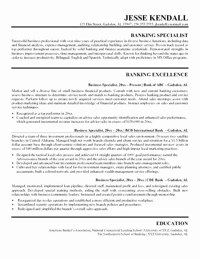 Sample Banker Resume Bank Accountant Resume Sample Chase