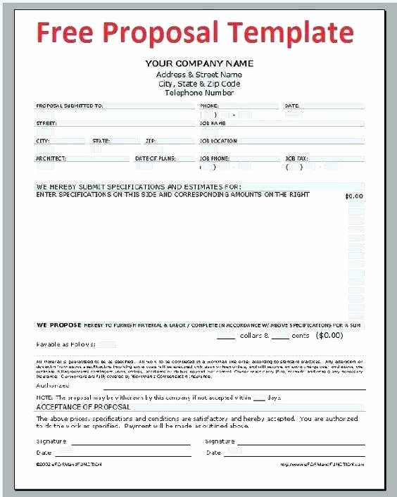 Sample Bid Proposal Best Construction Bid Template