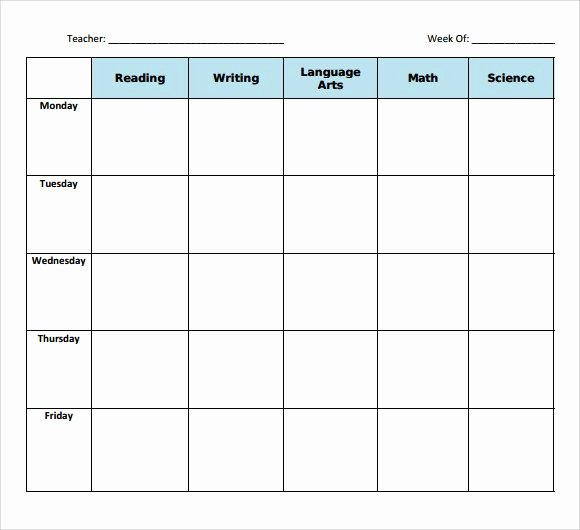 Sample Blank Lesson Plan Template 10 Free Documents In Pdf