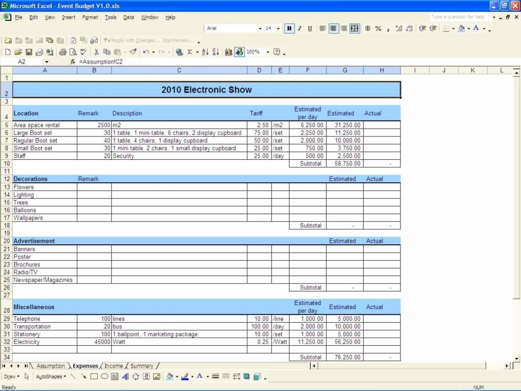 Sample Bud Spreadsheet Excel Excel Spreadsheet