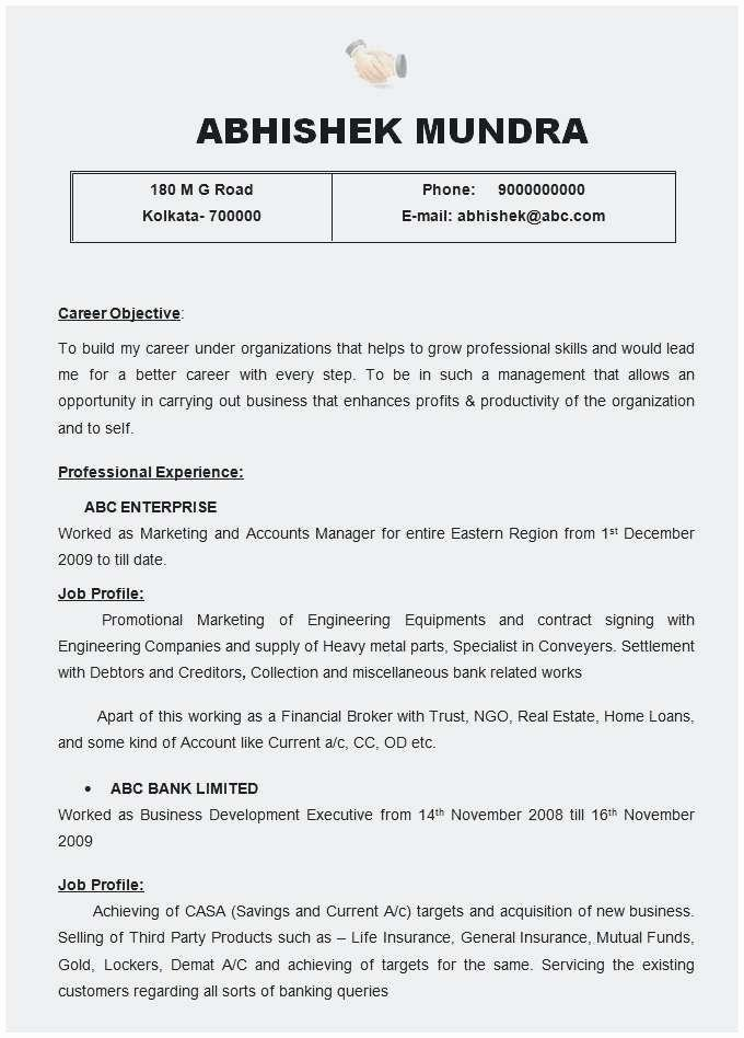 Sample Call Centre Resume