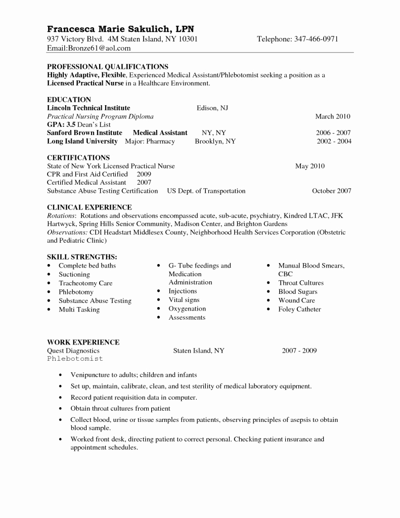 Sample Certifications and Skills List to Put Resume for