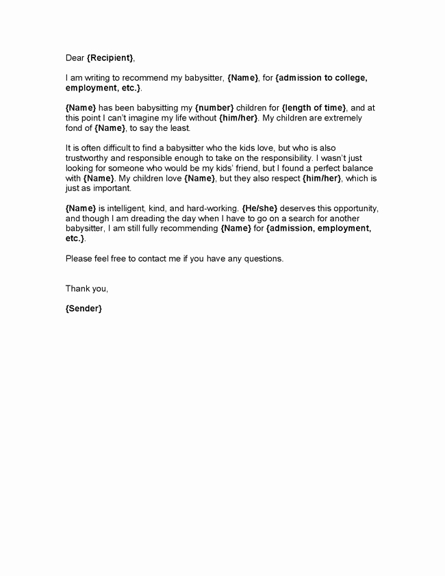 Sample Character Reference Letter for Adoption