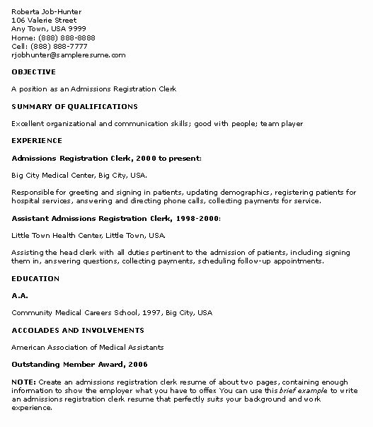 Sample College Student Resume No Work Experience Sample