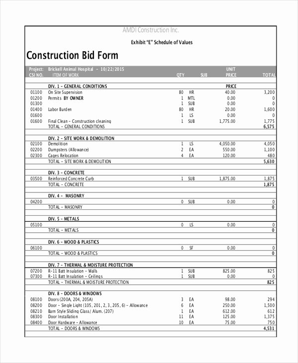 Sample Construction form 21 Free Documents In Word Pdf