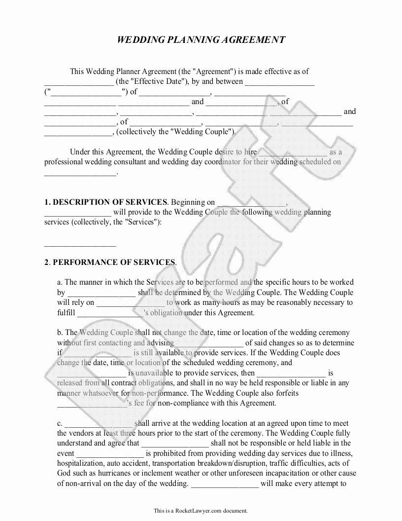 Sample Contracts for event Planners Google Search