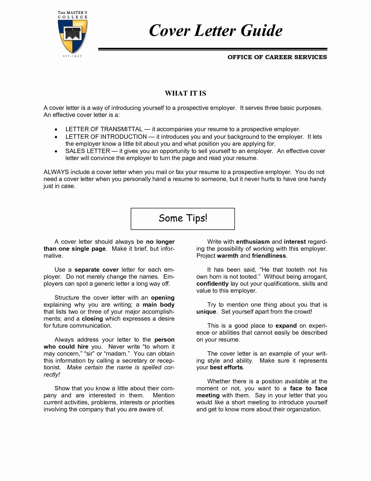 Sample Cover Letter for Career Change Jobs