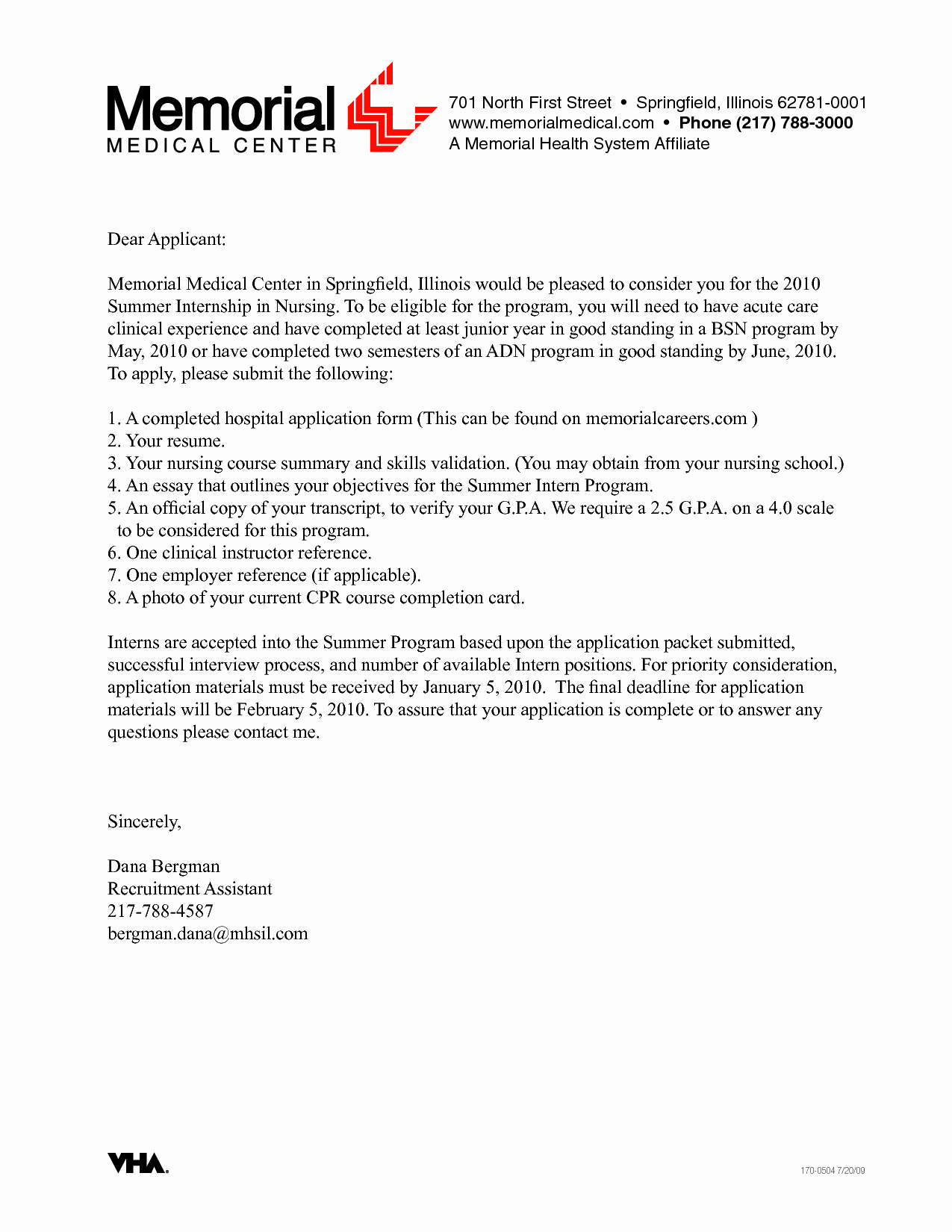 Sample Cover Letter for Clinical Research Nurse