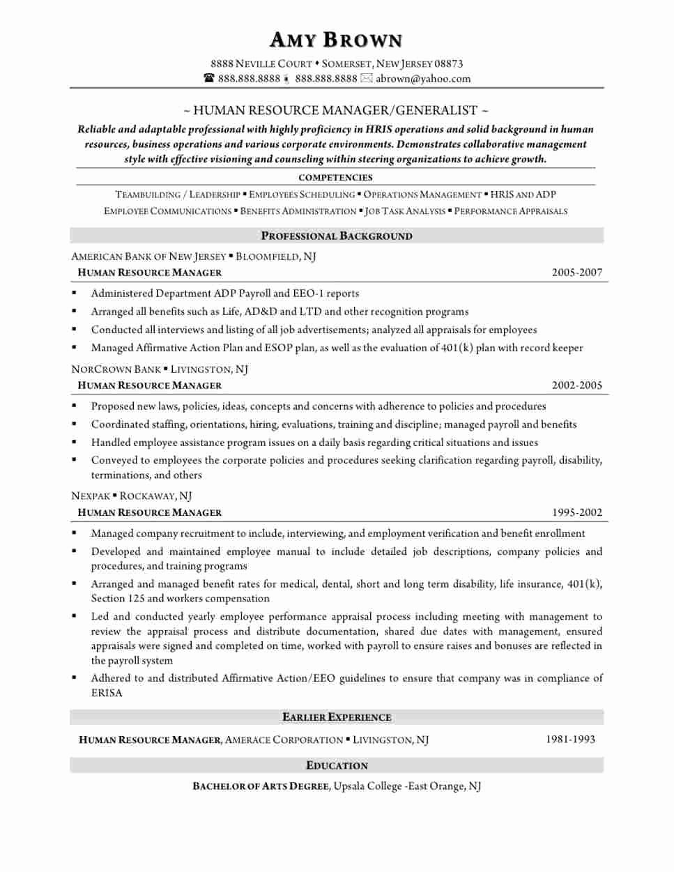 Sample Cover Letter for Human Resources assistant