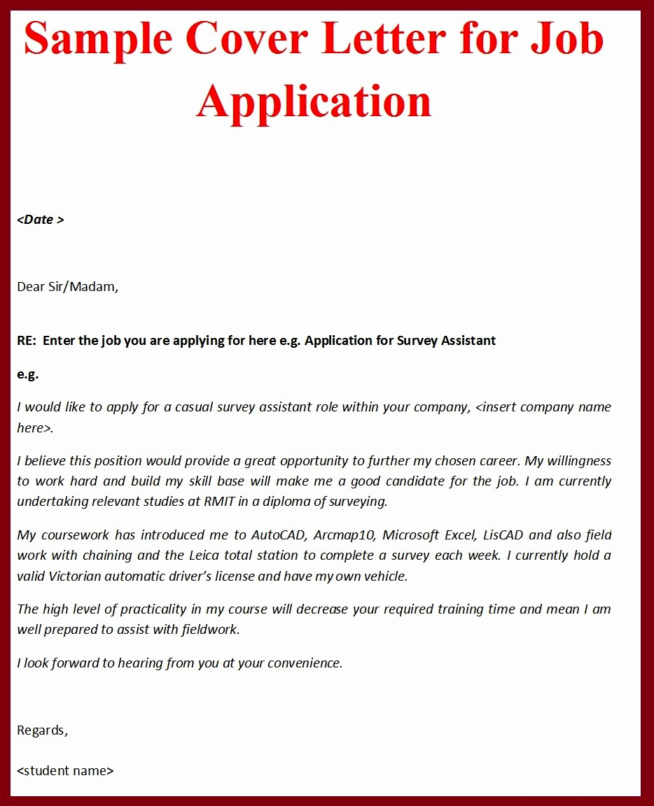Sample Cover Letter for Job Similar to Resume – Perfect
