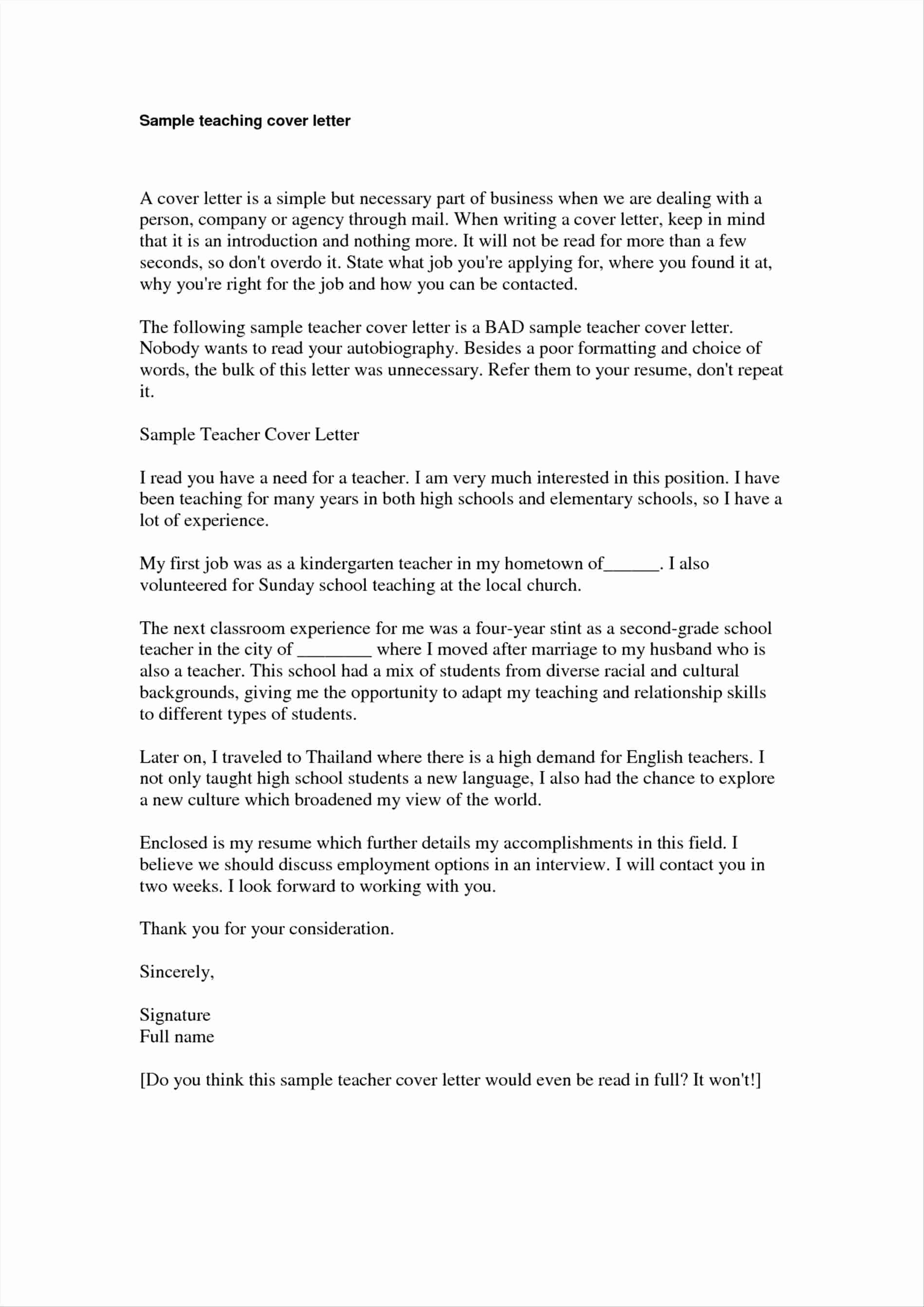 Sample Cover Letter for Ministry Position