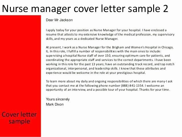 Sample Cover Letter For Rn Case Manager