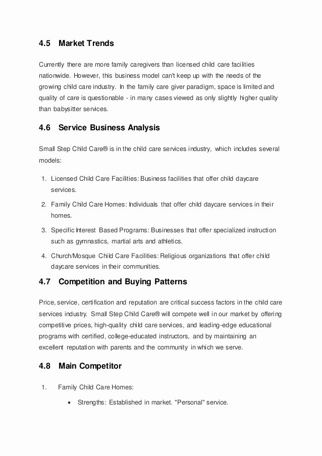 Sample Daycare Business Plan Reportz725 Web Fc2