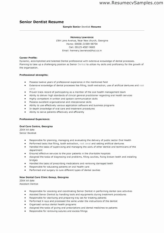 Sample Dentist Resume Writing Your Cv Dentist Resume