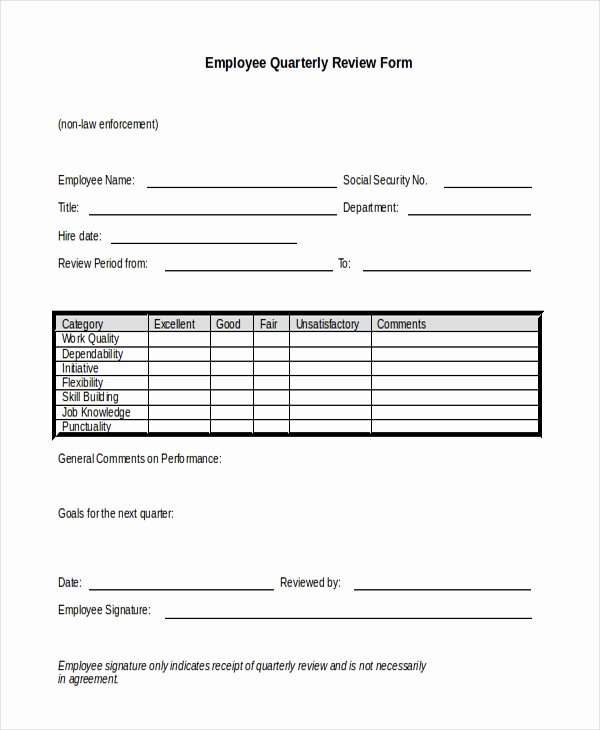 sample employee review form