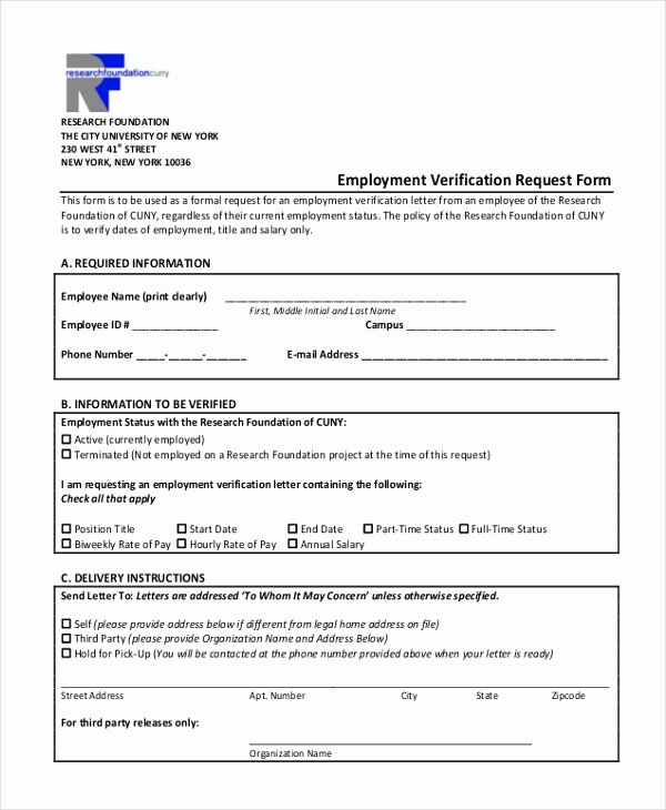 Sample Employment Verification form 13 Free Documents