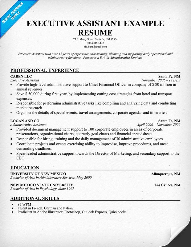 Sample Executive assistant Resumes