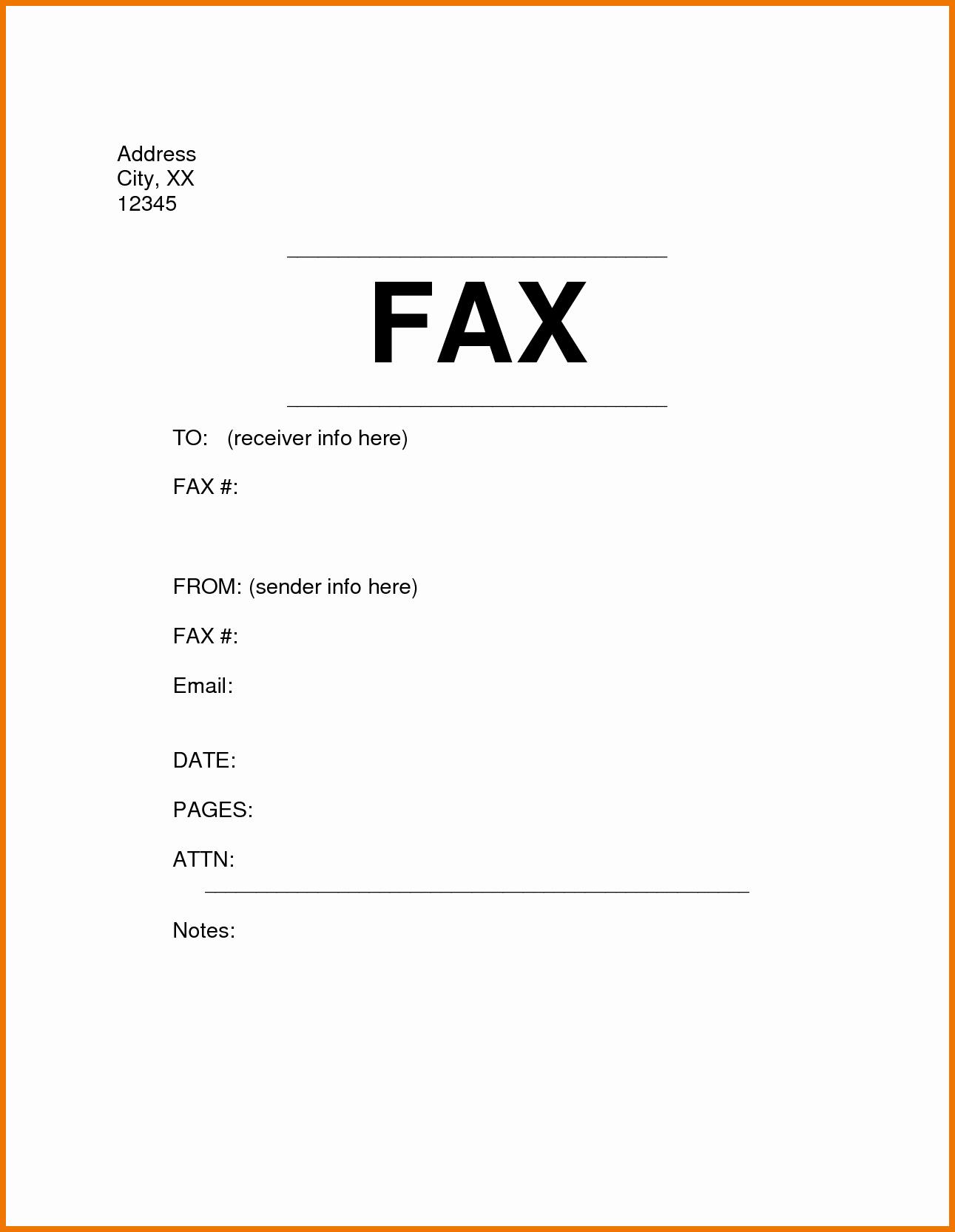 Sample Fax Cover Sheet Staruptalent