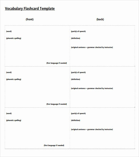 Sample Flash Card Template 12 Free Documents In Pdf