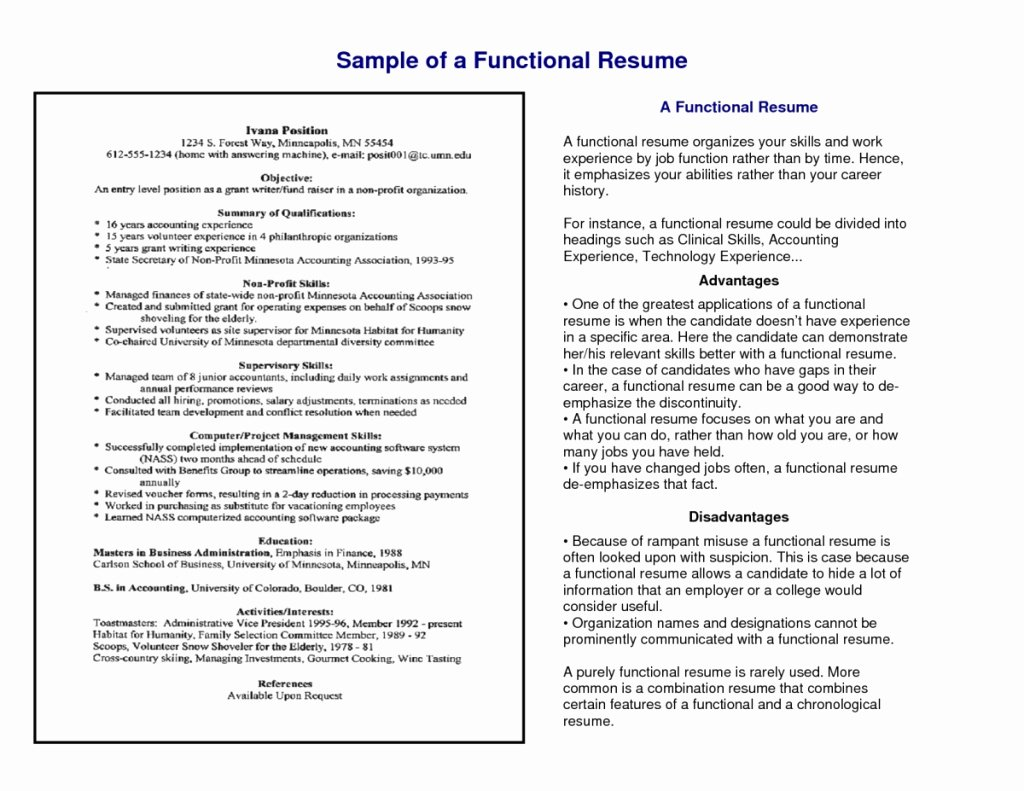 Sample Functional Resumes