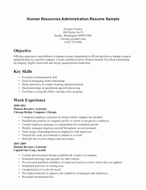 Sample Human Resources Resume – Letsdeliver