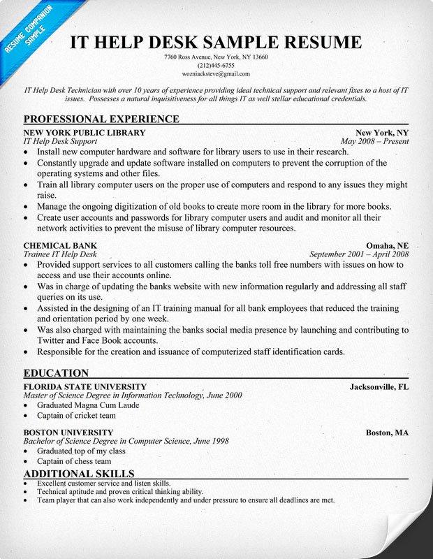 Sample Information Technology Resume Entry Level
