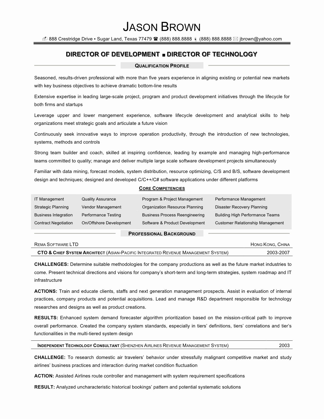 Sample Information Technology Resume Resume Examples for