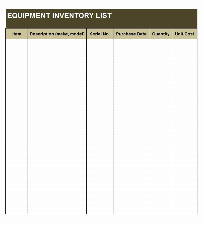 Sample Inventory List 30 Free Word Excel Pdf