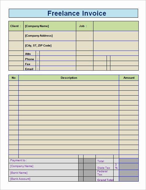 Sample Invoice for Freelance Services Freemixip