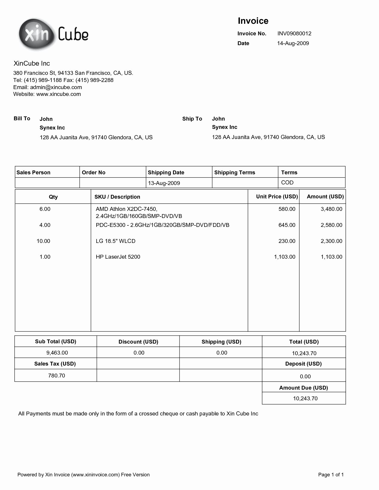 Sample Invoice Pdf Invoice Design Inspiration