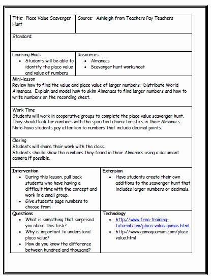 Sample Kindergarten Lesson Plan Template Templates Data