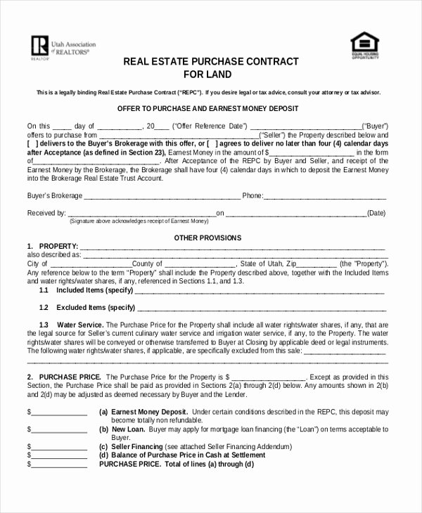 Sample Land Purchase Agreement form 7 Documents In Pdf