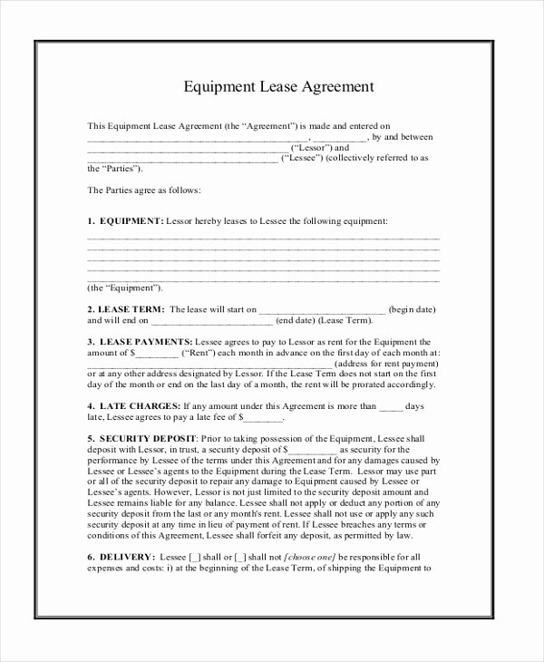 Sample Lease Agreement form 8 Free Documents In Word Pdf