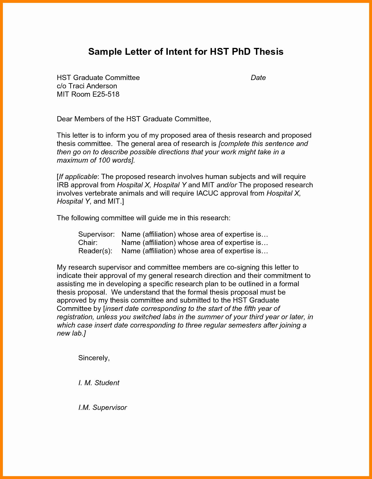 Sample Letter Intent Template Portablegasgrillweber