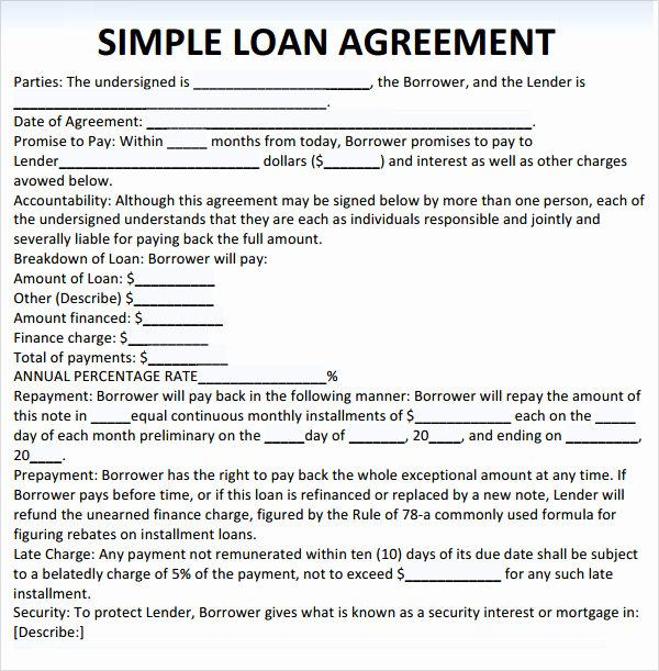 Sample Loan Agreement 10 Free Documents In Pdf Word