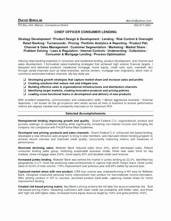 Sample Loan Officer Resume – Pohlazeniduse