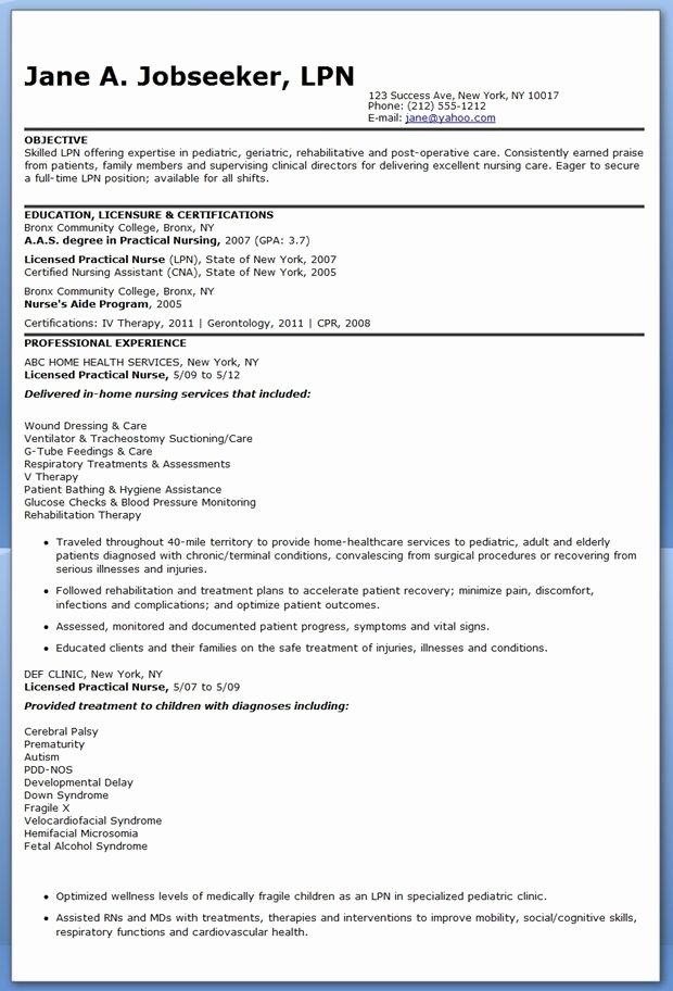 Sample Lpn Resume Objective