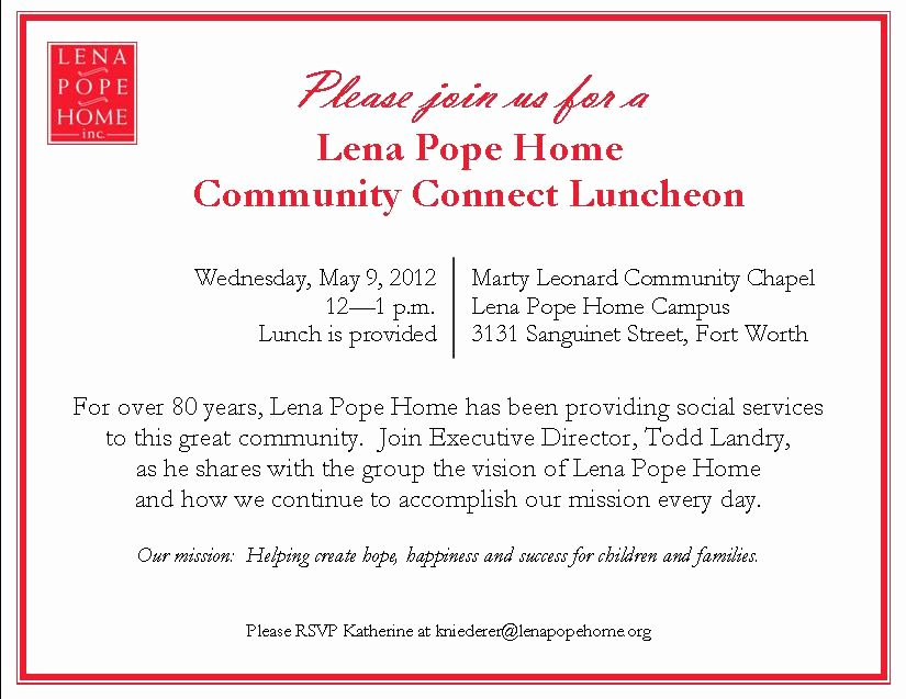 Sample Luncheon Invitations Templates