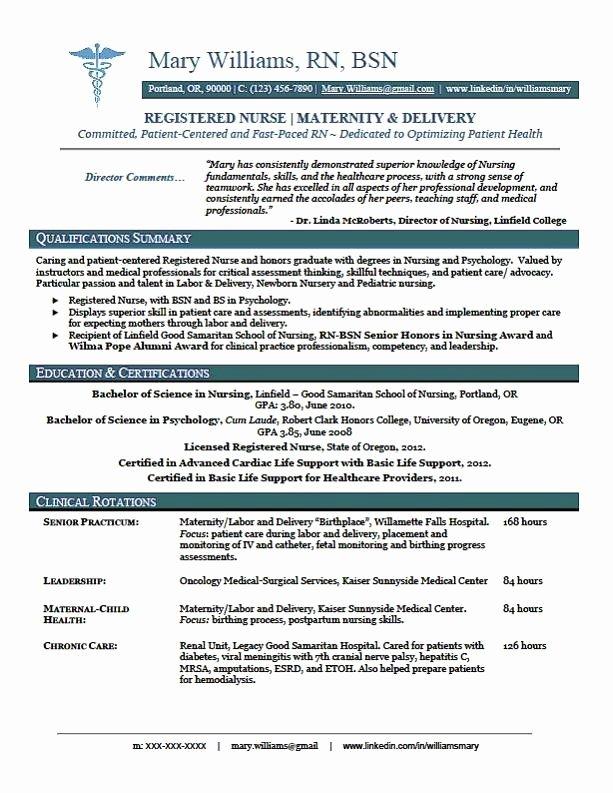 Sample New Rn Resume