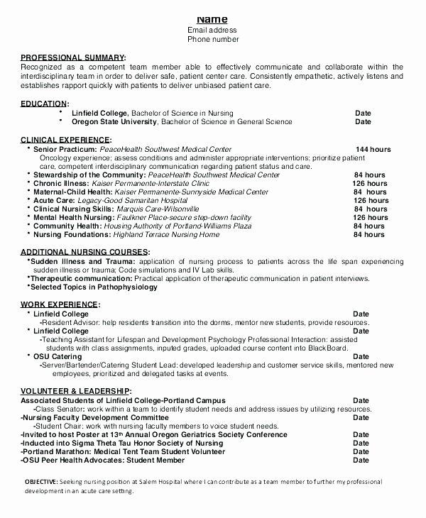 Sample Nursing Student Cover Letter – Baxrayder