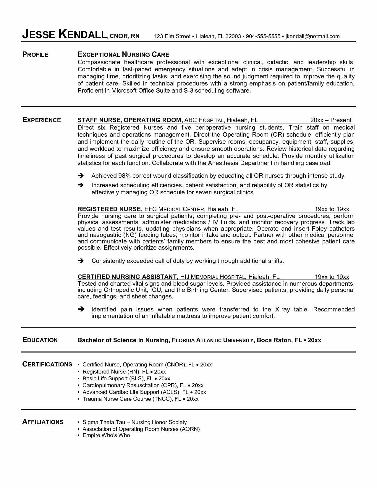 Sample Nursing Student Resume Clinical Experience Resume