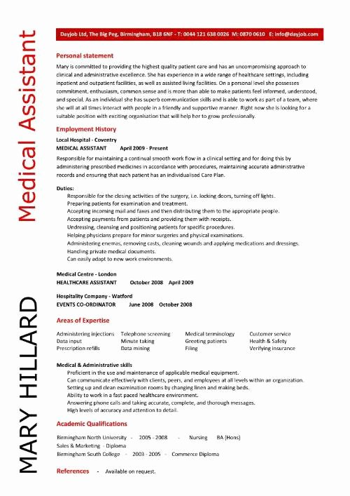 Sample Of A Medical assistant Resume 2016