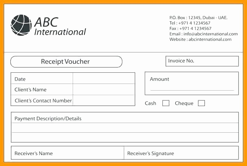 Sample Of Receipt for Payment – Aumainsub